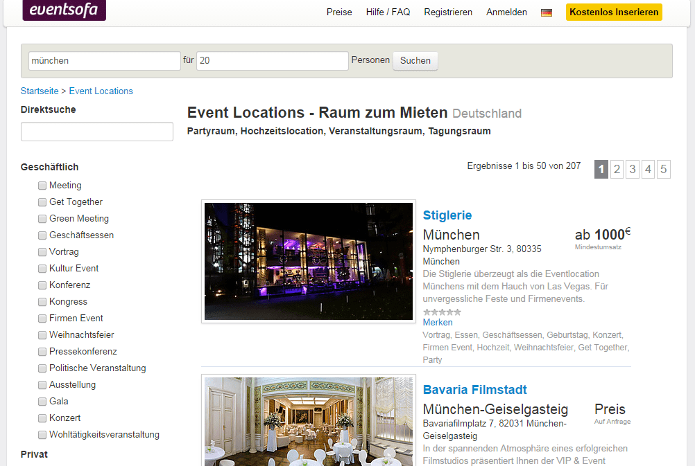 eventlocation in m nchen eure party selbst organisiert. Black Bedroom Furniture Sets. Home Design Ideas